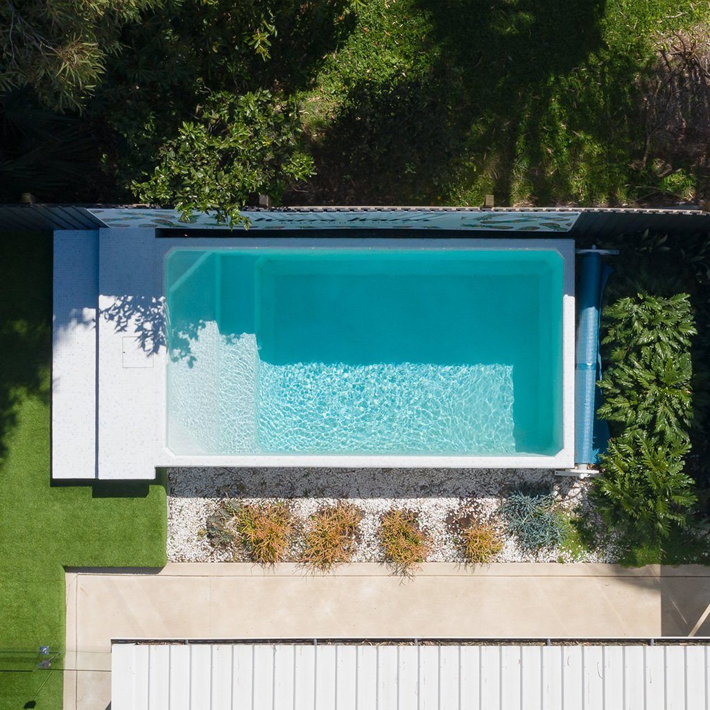 Areial shot of Plungie Original pool in Kona Coast