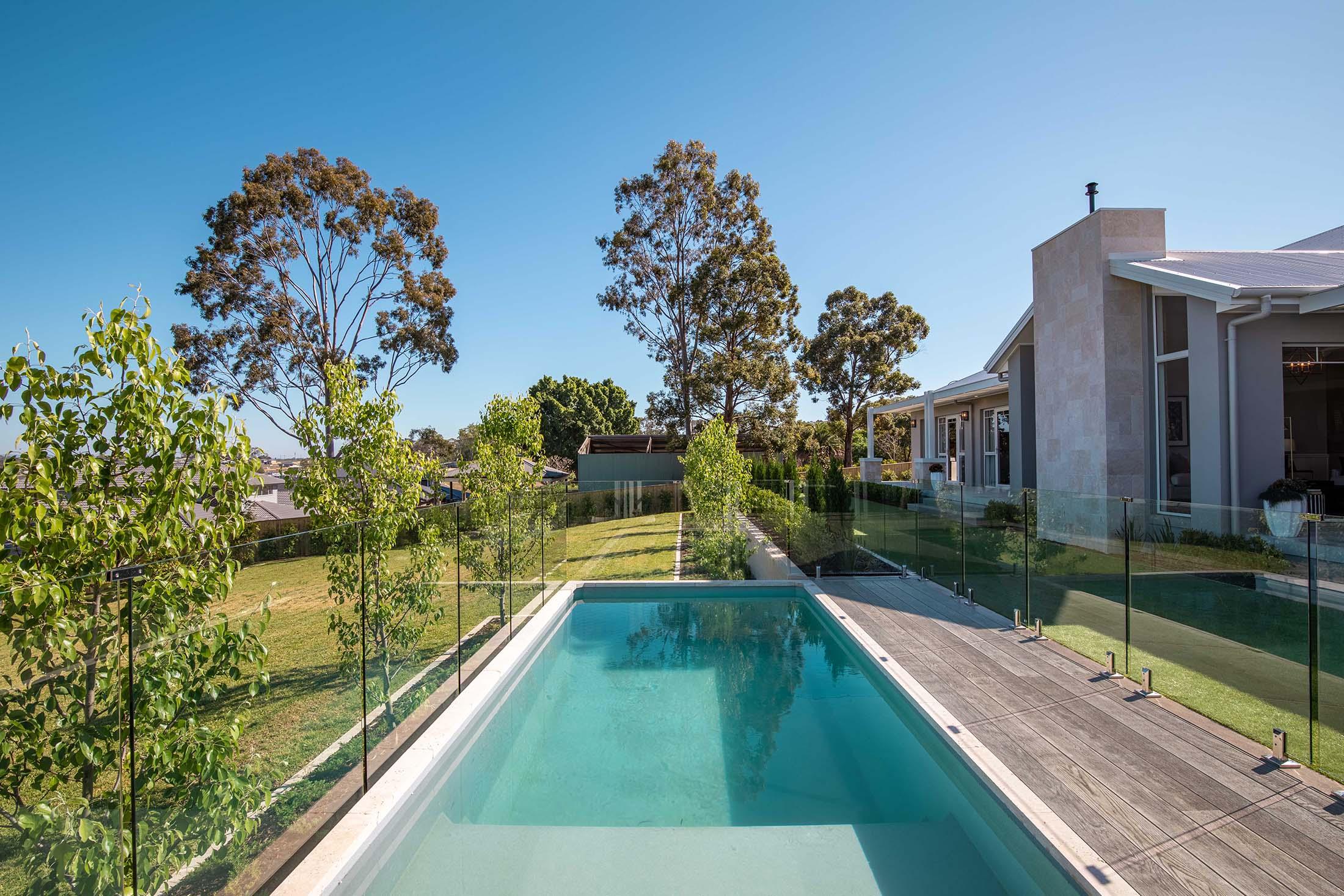 Plungie Max 20ft x 10ft concrete swimming pool in Blue Granite