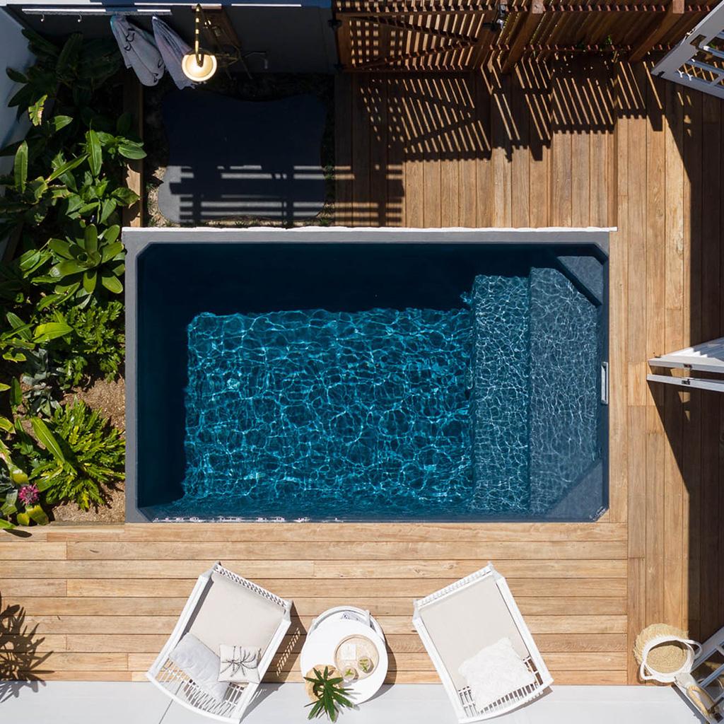 Plungie Studio pool in Mediterranean Blue